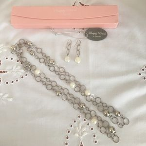 Jewelry - Simply Marcella pearl & silver necklace & earrings